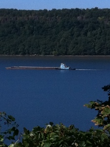 A barge on the Hudson